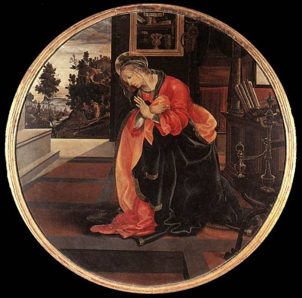 Virgin from the Annunciation 1483 4